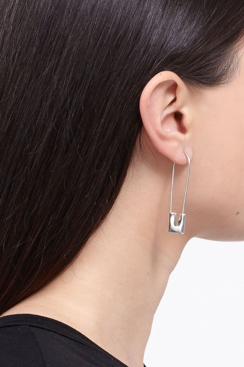 Amy Glenn Safety Pin Earrings (Sterling Silver) Safety