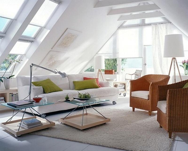 12 superbes idées pour décorer un salon mansardé | Nesting ...