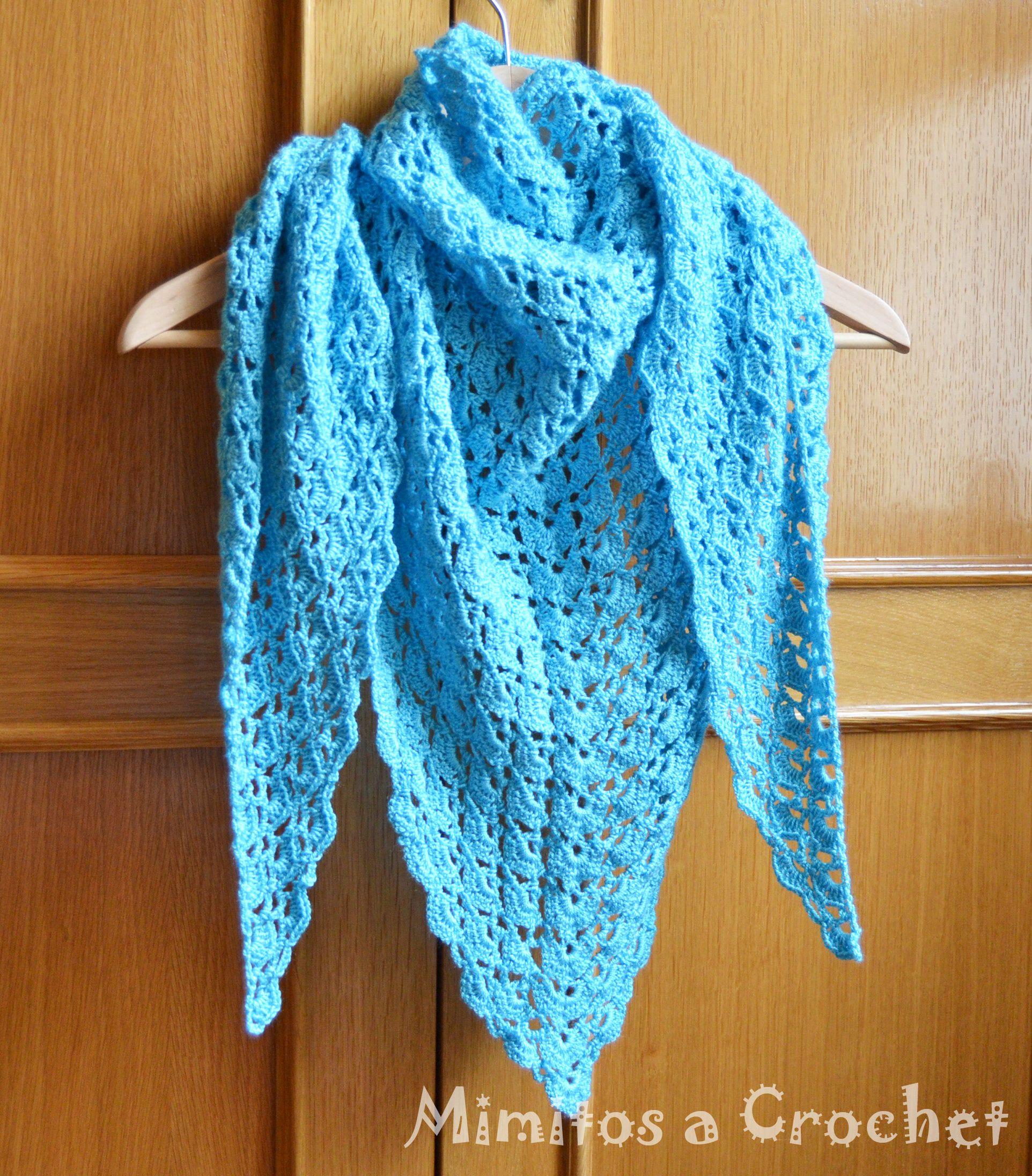 Hermosa Crochet Patrón Concha Applique Composición - Ideas de ...