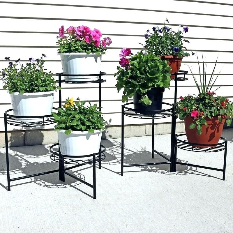Plant Stand Plans Multi Plant Stand Outdoor Tiered Plant Stands Tiered Outdoor Plant S With Images Plant Stands
