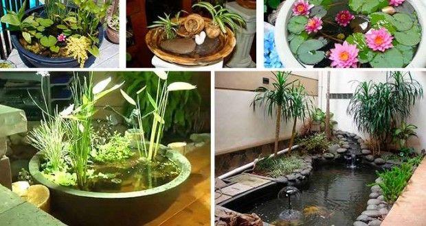 Estanques de interior ideas y materiales estanques for Decoracion estanques