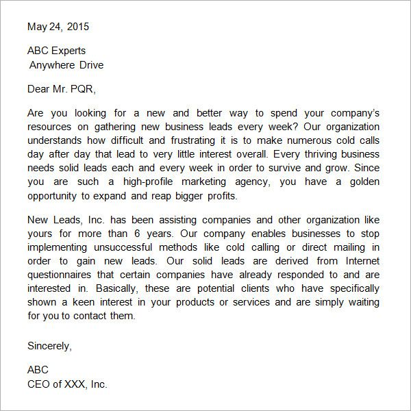 Sample Business Proposal Letter  Useful Document Samples