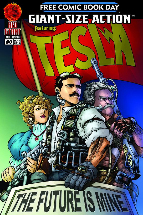 Tesla comic book cover The Future is Mine