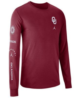 Nike Men s Oklahoma Sooners Long Sleeve Basketball T-Shirt - Red 3XL ... 9af8f8dae