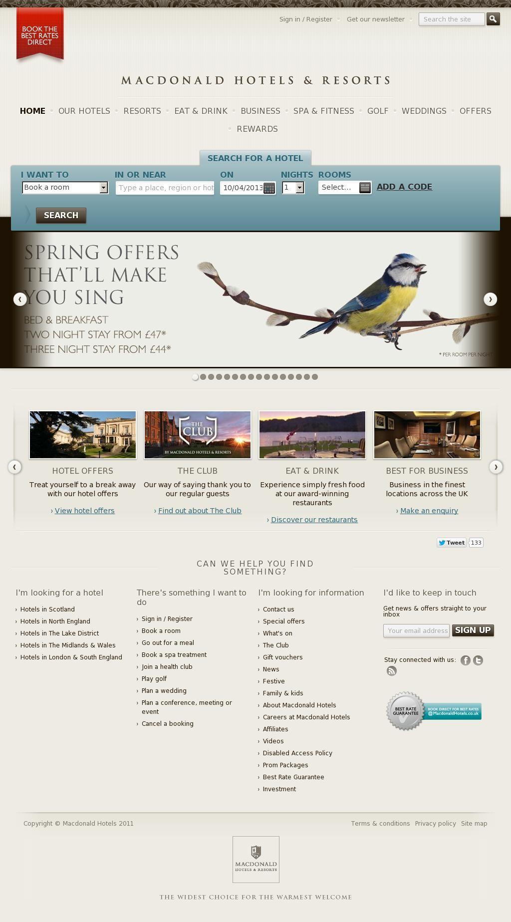 The Website Http Www Macdonaldhotels Co Uk Courtesy Of