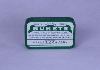 Bukets tablets tin. Container empty. - Junk Drunk Jones