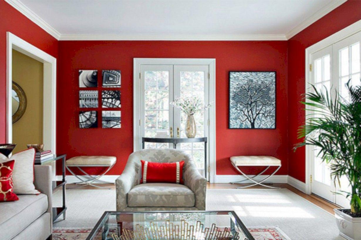 45 Gorgeous Red White Living Rooms Ideas Http Seragidecor