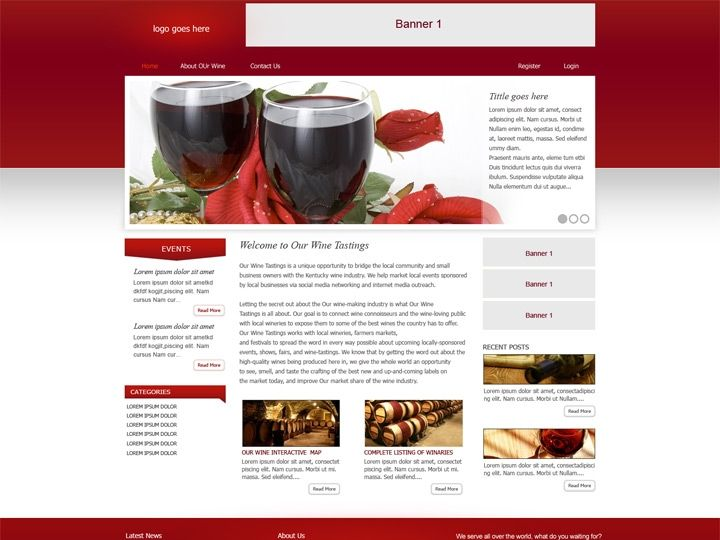 Website design for vinery company. Clean, easy to use website design proposed. Colors are used following the core business of company.