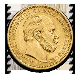 Kaiser Wilhelm I., Preußen, 20 Mark, 7.16g Gold, 18711888