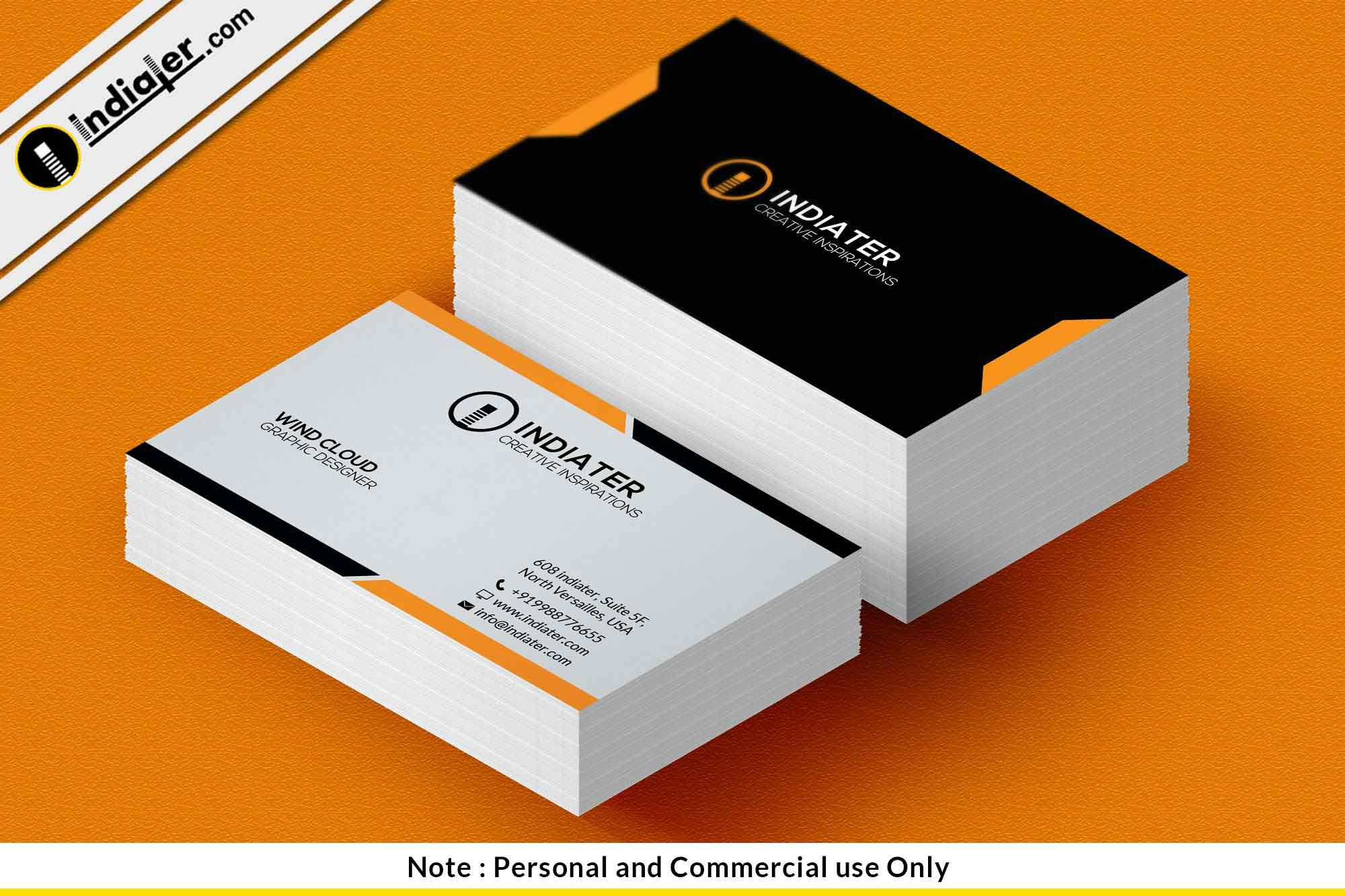 Sample Personal Business Cards Free Card Template Psd ...