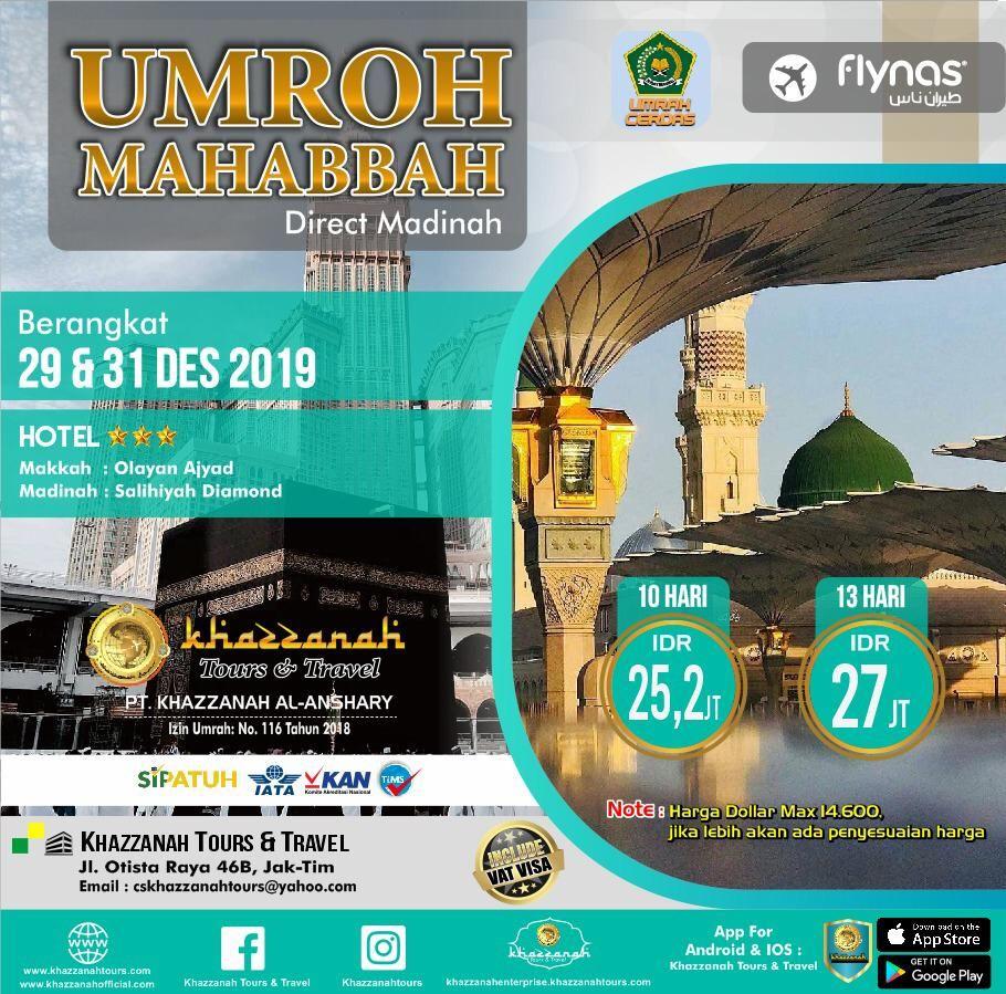 Umroh Mahabbah Jakarta 13h Tanggal 29 Dec 2019 Tours Tanggal Olay