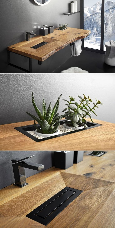Photo of CONE INVI wooden washbasin adds natural essence