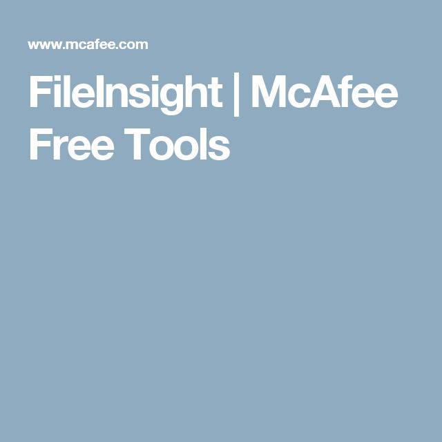FileInsight | McAfee Free Tools | Software reverse engineering