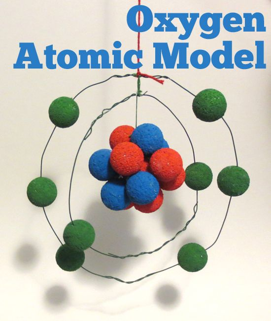 Oxygen Atomic Model With Wire Styrofoam Balls And Paint Science