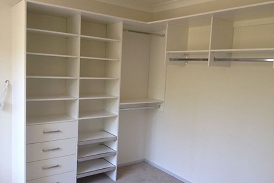 Beautiful New Walk In Closet Made From White Mdf And Melamine Clever Closet Closet Companies Custom Storage Solutions