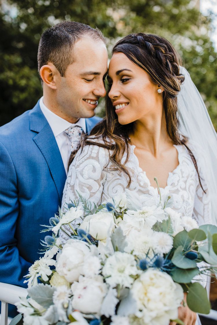 Professional Wedding Photographer In Cache Valley Utah Bride And Groom Smiling Braid