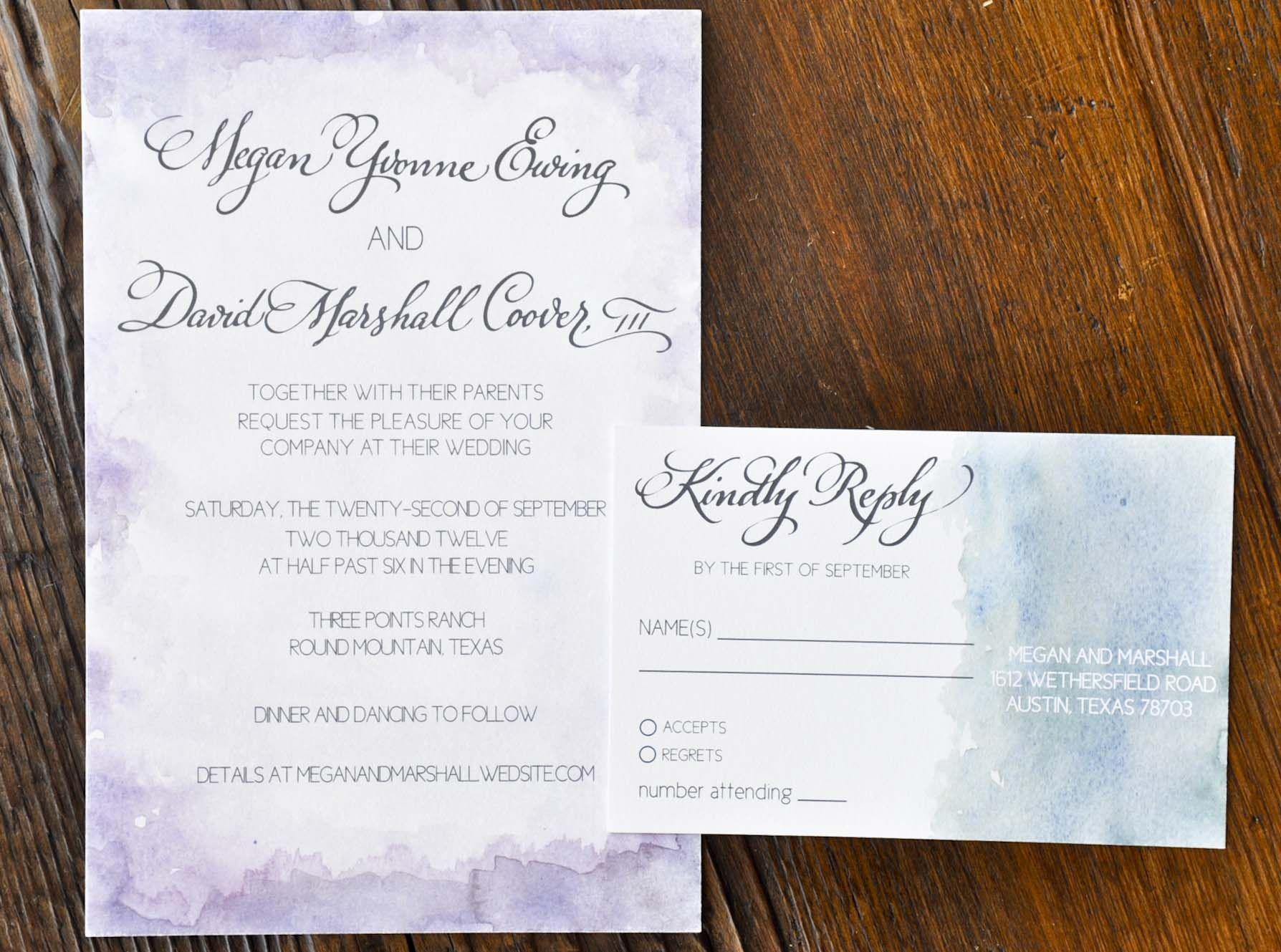 watercolor wedding invitations inviting affairs austin tx - Wedding Invitations Austin Tx