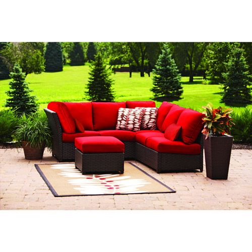 Hometrends Rushreed 3 Piece Sofa Sectional Set Back Deck