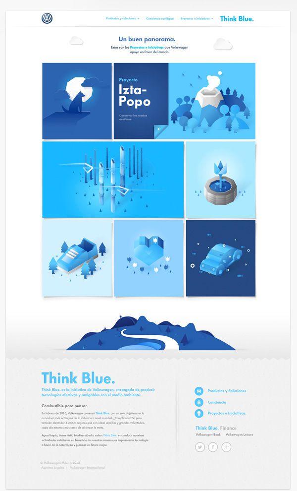 Volkswagen Think Blue Website On Behance Corporate Website Design Web Layout Design Blue Website