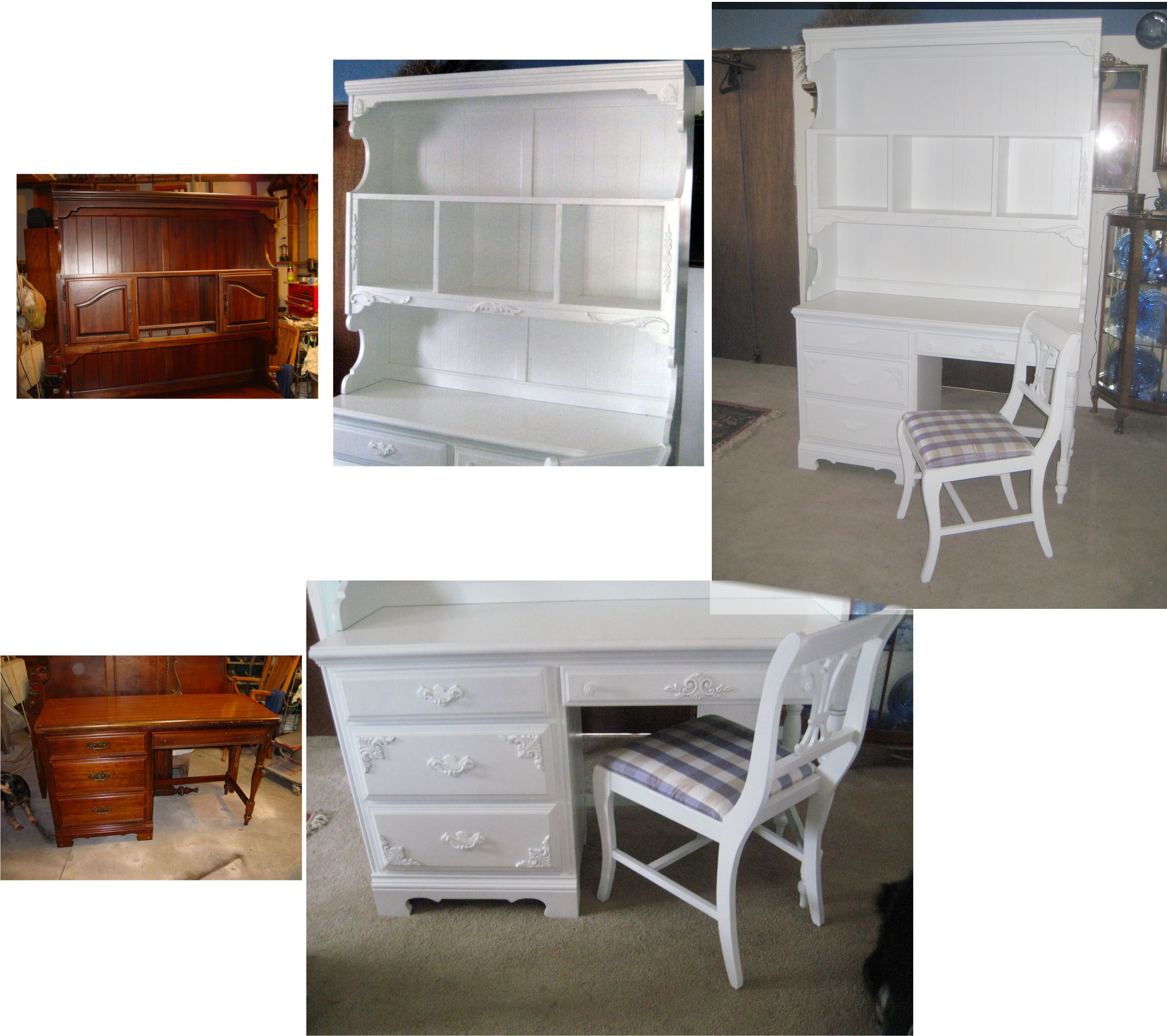 I Modified A Kitchen Hutch Into Great Desk This Sold Quick