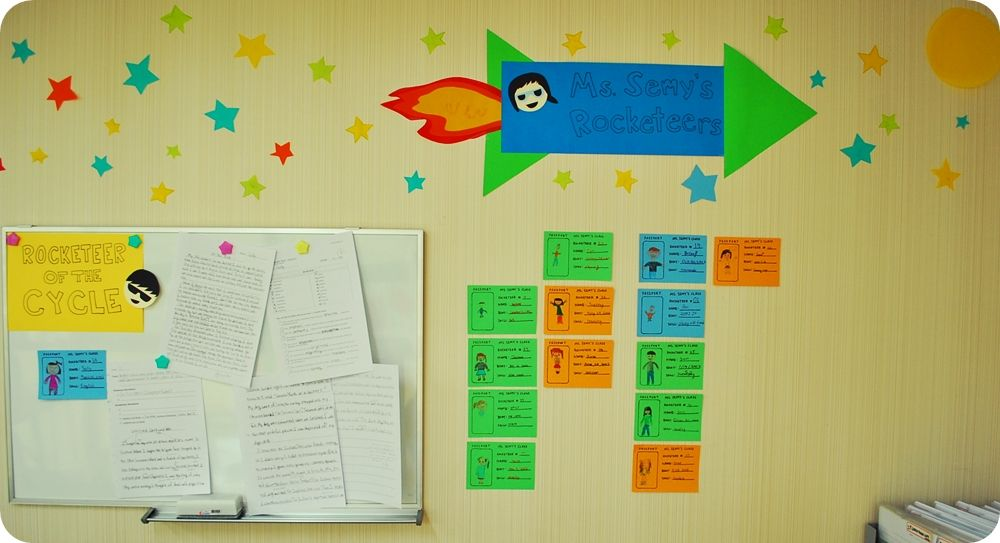 classroom theme: ms. semy's rocketeers with their own custom made passports :D