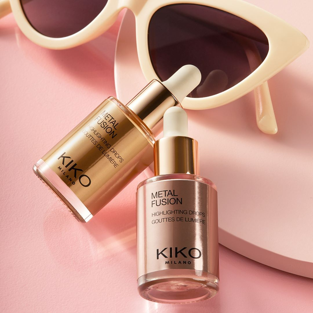 Kiko Milano Official On Instagram Drop Some Intense Glow Onto Your Cheekbones Metal Fusion Highlighting Drops 0 Kiko Milano Cheekbones Best Makeup Products
