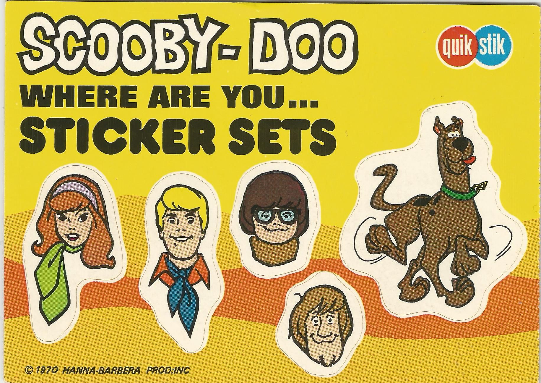 1970 Quik Stik Scooby-Doo Sticker Sets | All things Scooby doo ...