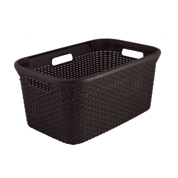 Curver Designed By People For People Hamper Basket 24 In X 15 In Laundry Basket Laundry Room Baskets Black Laundry Basket
