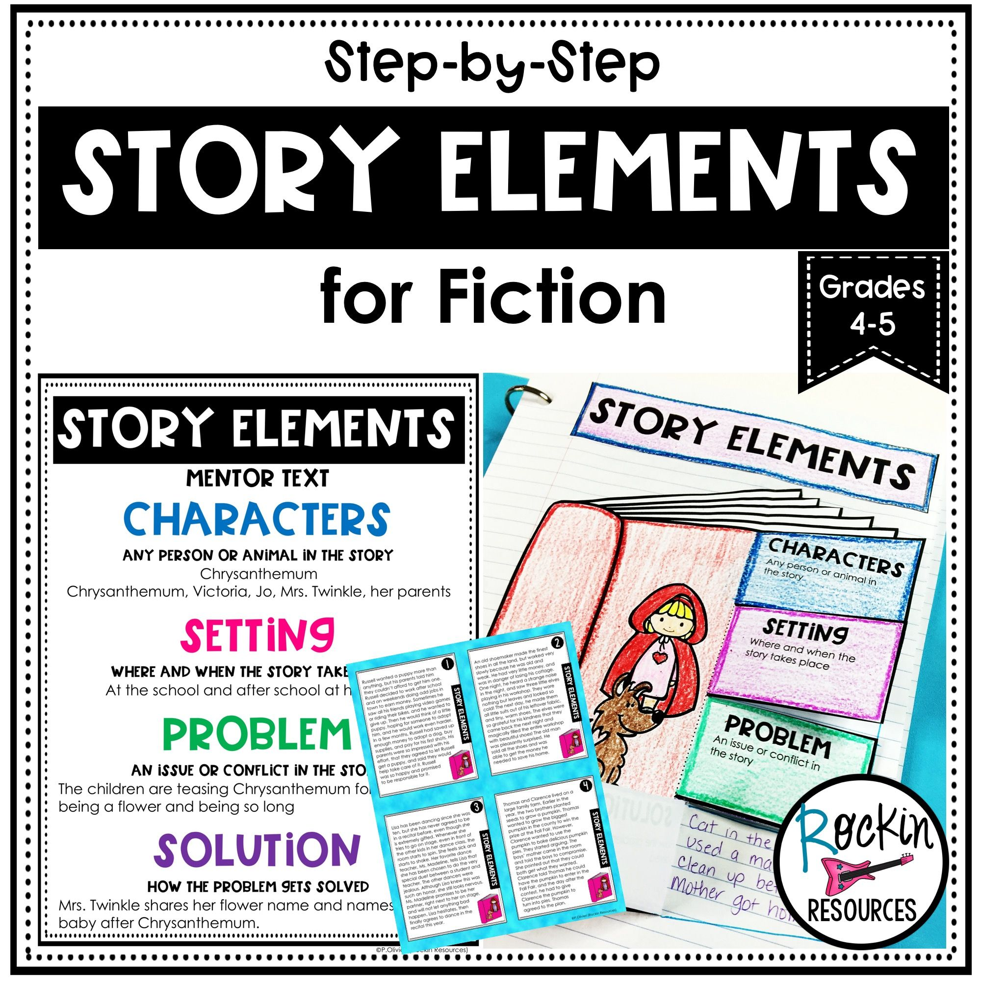 Step By Step Story Elements Unit For Fiction