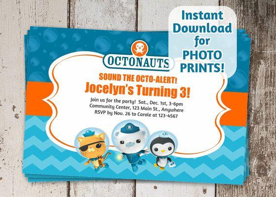 octonauts birthday party invitation