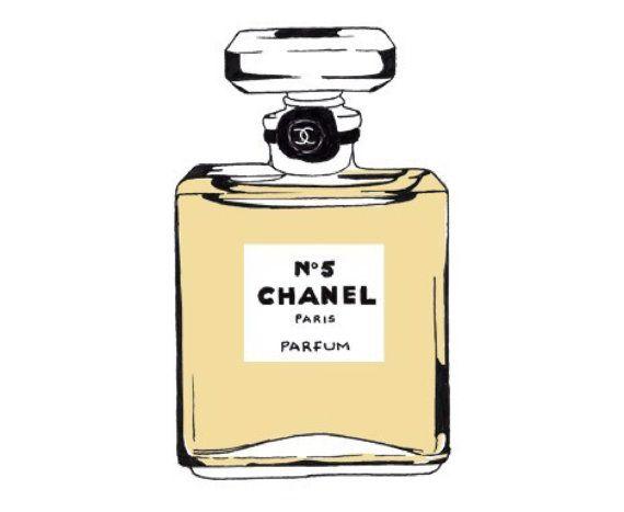 Chanel No 5 Illustration Perfume Bottle Fashion Print Small Chanel Stickers Chanel Printable Perfume Bottles