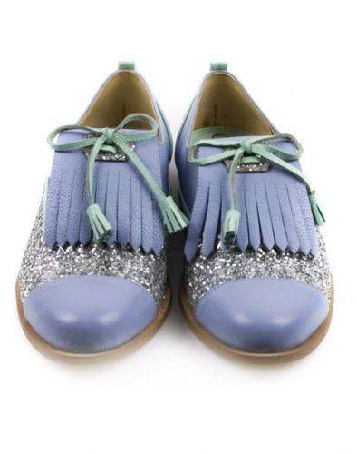 Leather Oxford Lilac Shoes. $252, via The Cools