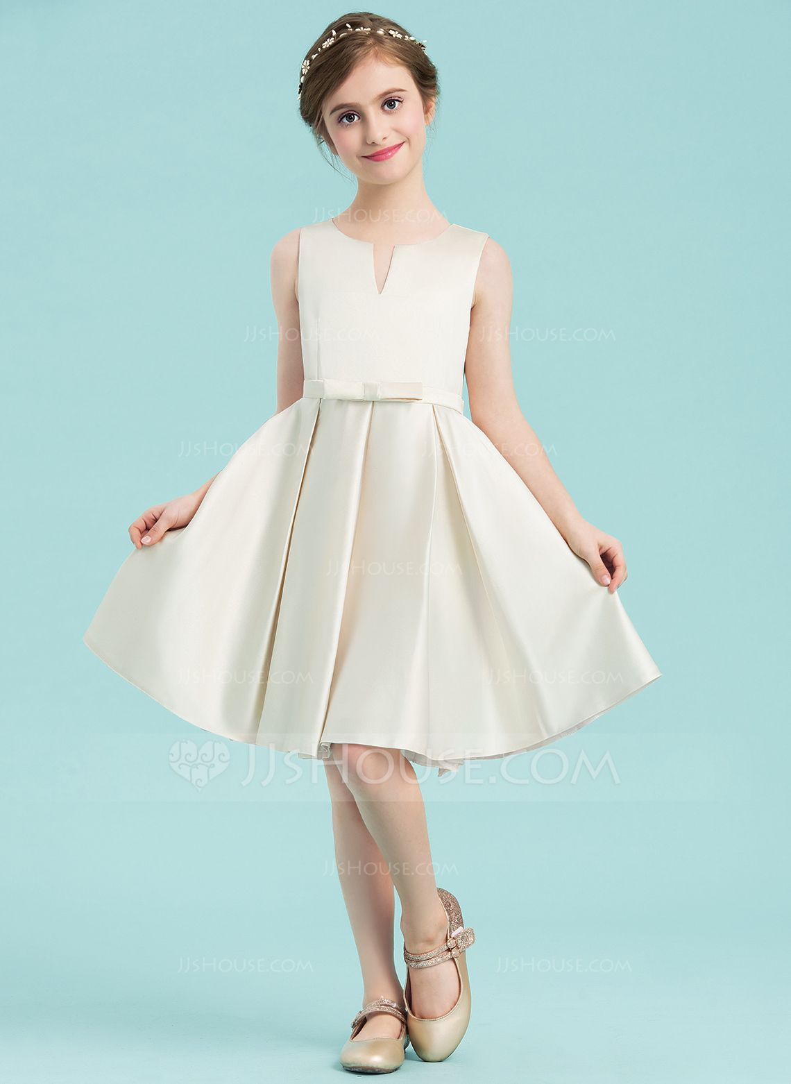 8479865de2d Ivory Satin Junior Bridesmaid Dress