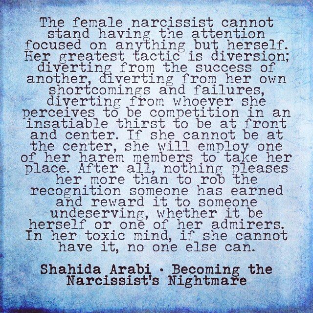 "Self-Care Haven on Instagram: ""Female #narcissists can be just as underhanded and despicable as male narcissists. Their weapon of choice includes diversion through relational aggression."""