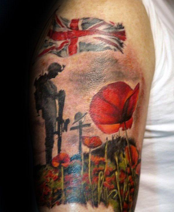Pin By Styleup On Memorial Tattoos Military Tattoos Leg