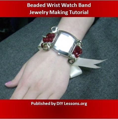 #FreeJewelryPattern: Beaded Wrist Watch Band - click the image to get the free instant download of the pattern