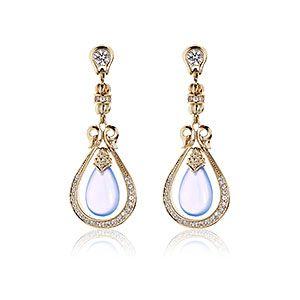 Scott Kay, Vermeil Drop Earring, blue chalcedony, Ladies Fashion : Your Style : Tamed, E3795VPCCHAWSM