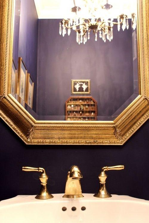 La Maison Gray Interiors Purple Bathroomsgold