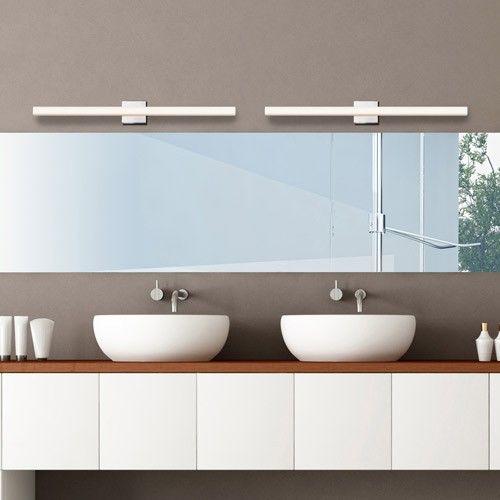 W a c lighting sonneman sq bar 40 inch led bath bar bath bar and washroom for Chapter 3 light bar bathroom light