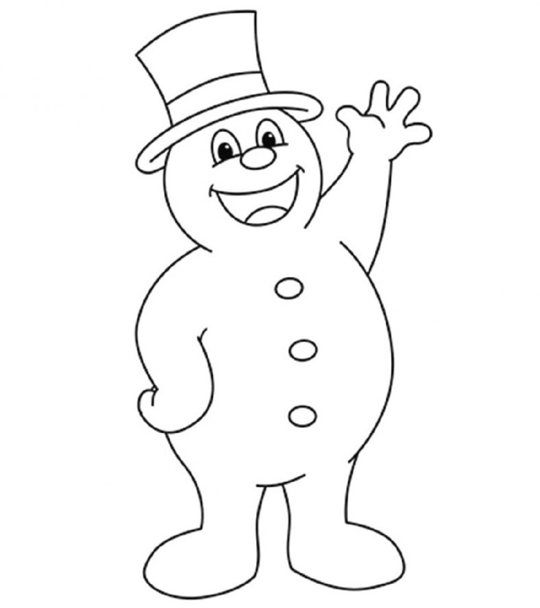 Christmas Snowman Coloring Pages in 2020 Snowman