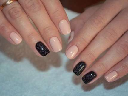 nails shellac black new years 36 ideas  beige nails