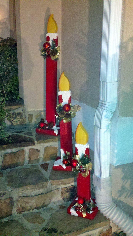 Addobbi Natalizi Giganti.Ecdbeca0cf632b3ccb8cfa062c936955 Jpg 750 1 330 Pixels Christmas Candle Decorations Wood Christmas Decorations Christmas Yard Decorations