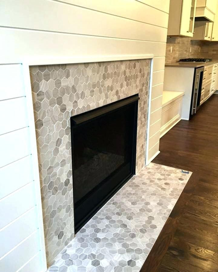 black slate tile fireplace black marble