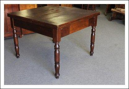 Antico tavolo allungabile toscano 800 in arte povera .Allungabile ...