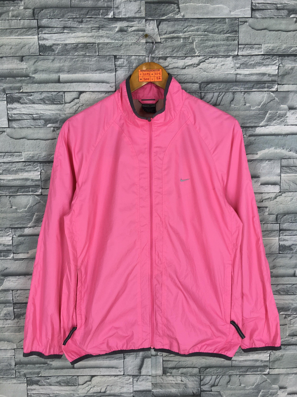 Nike Windbreaker Pink Jacket Ladies Medium Vintage 90 S Jackets For Women Nike Windbreaker Nike Women Outfits