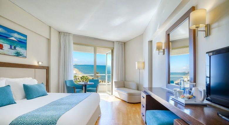 Golden Bay Beach Hotel 5 Star Hotel In Larnaca Rooms Bedroom