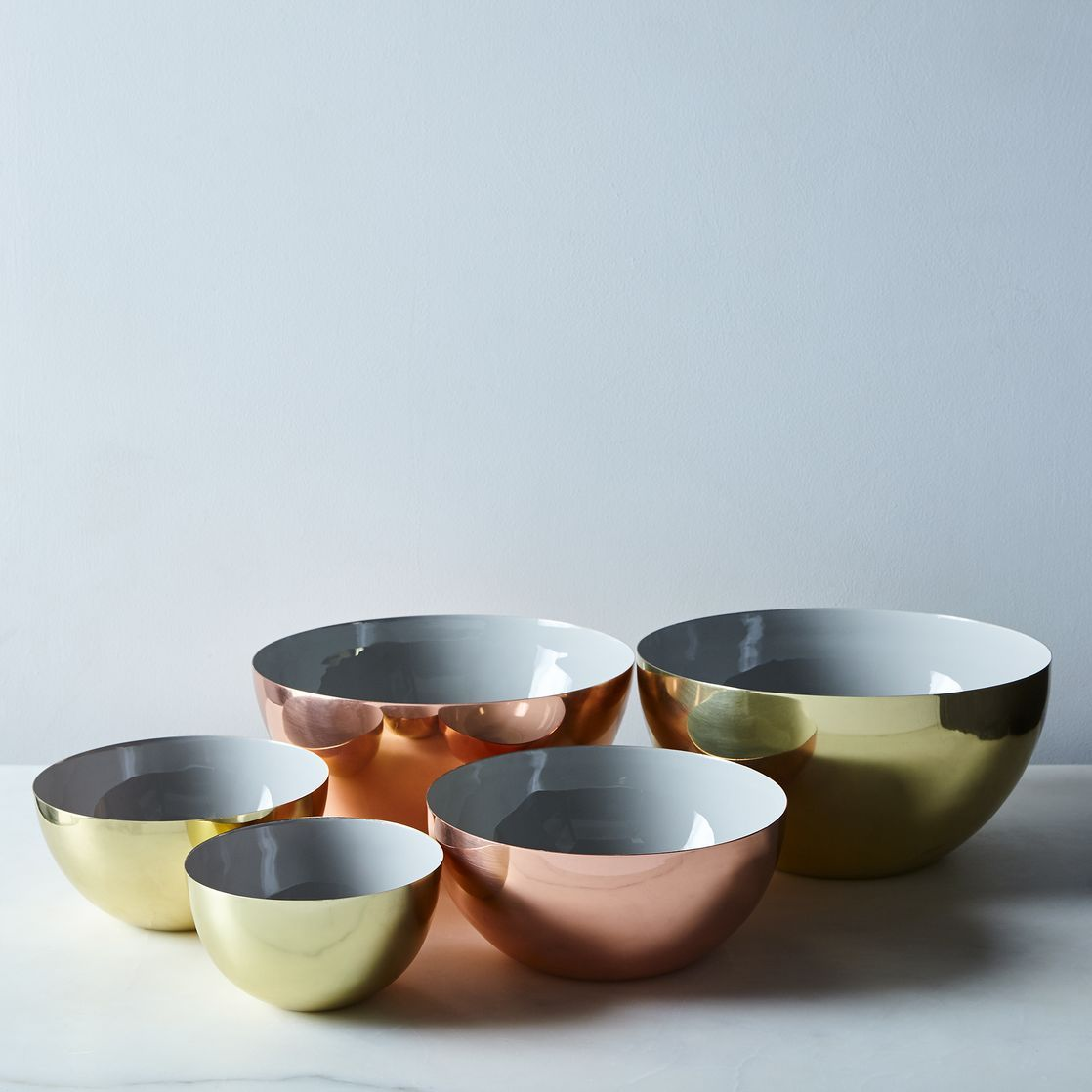 Hawkins New York x Food52 Copper, Brass, and Grey Enamel Louise ...