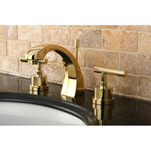 Manhattan Widespread Bathroom Faucet With Brass Pop Up Brass Bathroom Faucets Brass Bathroom Bathroom Faucets