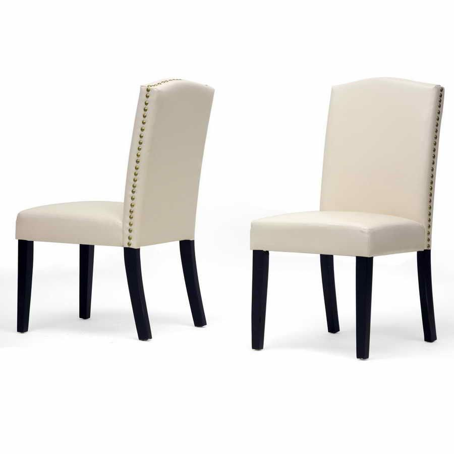 Dining chair leather upholstery