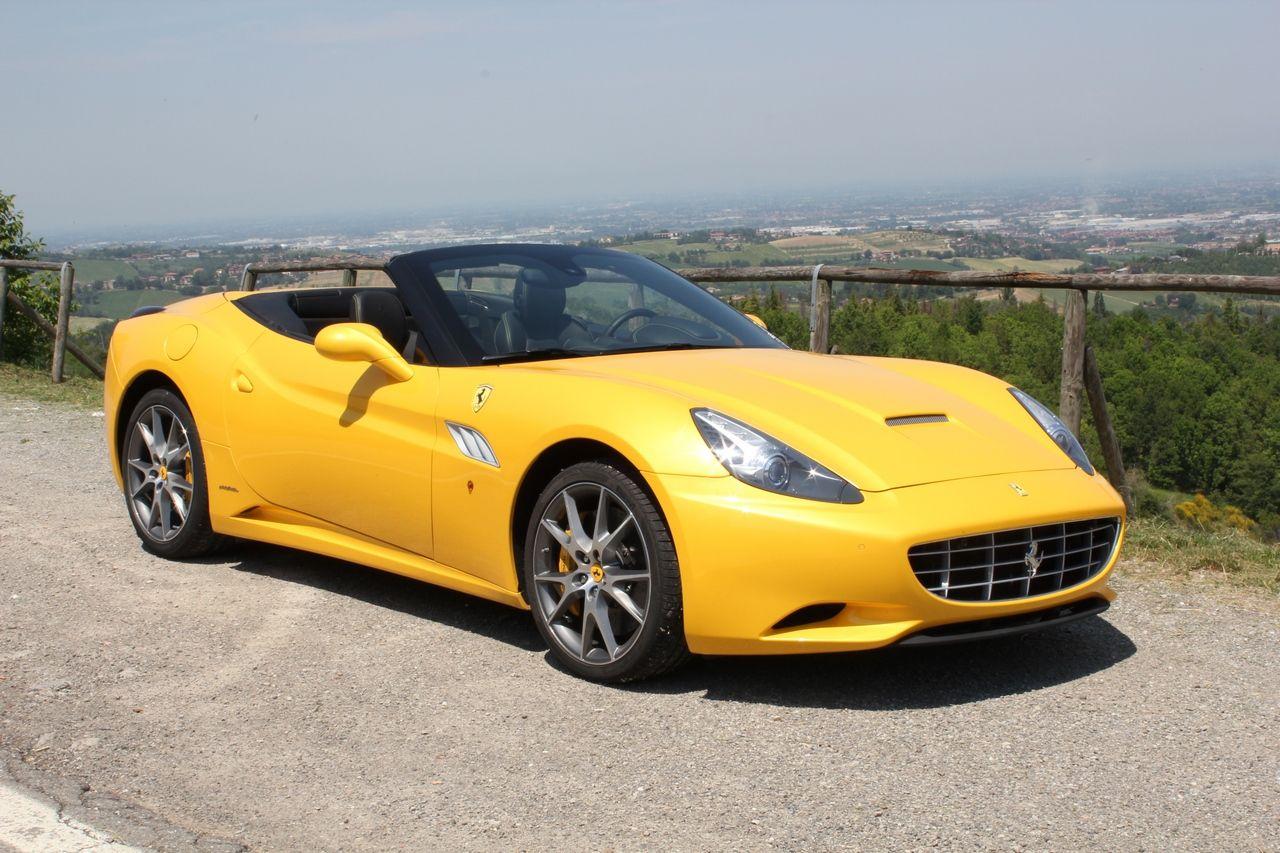Yellow Ferrari California